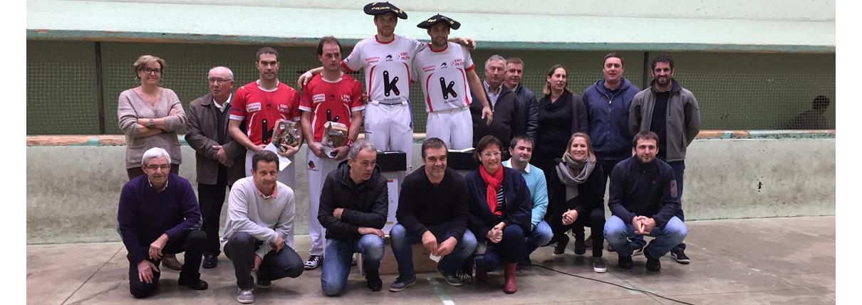 <strong>TOURNOI DE BAIGORRI, finale : OLCOMENDY associé àDUCASSOU, vainqueur devant son public</strong>