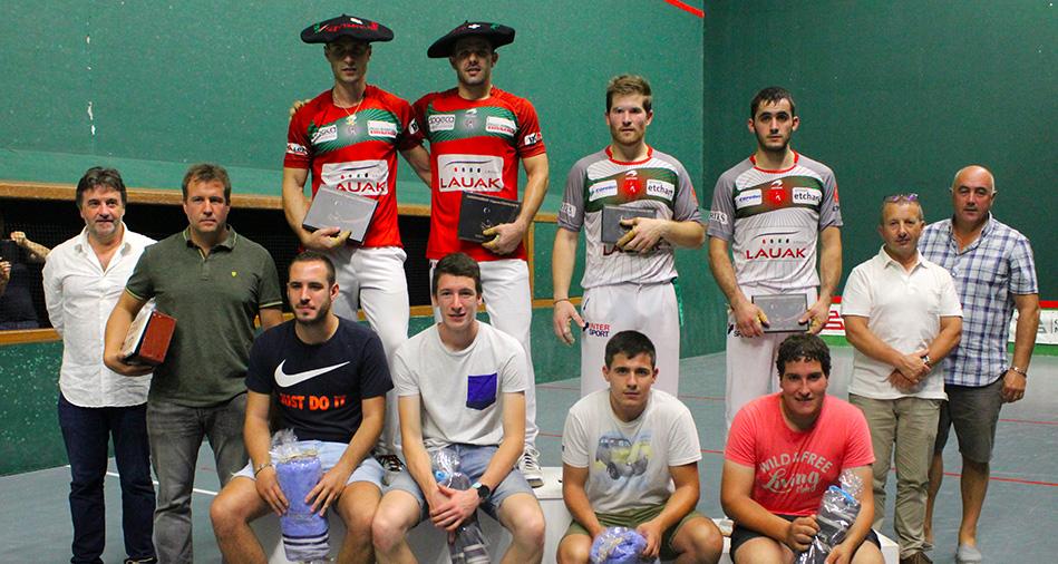 Tournoi de Garindein : Larralde-Bilbao l'emportent